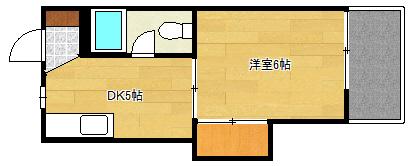 沖ビル 1DK 3号室