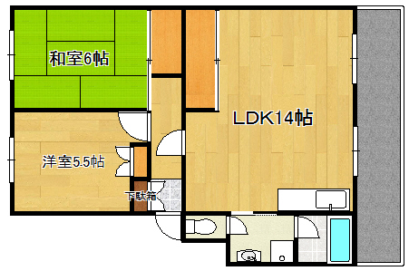 ハイネス大芝 203号室 2LDK
