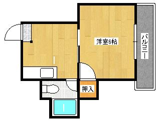 コーポ西田 1DK 1号室